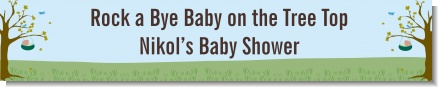 Nursery Rhyme - Rock a Bye Baby - Personalized Baby Shower Banners