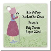 Nursery Rhyme - Little Bo Peep - Personalized Baby Shower Card Stock Favor Tags
