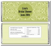 Sage Green - Personalized Bridal Shower Candy Bar Wrappers