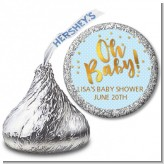 Oh Baby Shower Boy - Hershey Kiss Baby Shower Sticker Labels