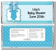 Baby Outfit Blue - Personalized Baby Shower Candy Bar Wrappers thumbnail