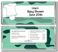 Baby Outfit Green Camo - Personalized Baby Shower Candy Bar Wrappers thumbnail