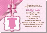 Baby Outfit Pink - Baby Shower Invitations