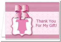 Baby Outfit Pink - Baby Shower Thank You Cards