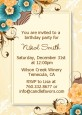 Orange & Blue Floral - Birthday Party Invitations thumbnail