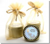 Our Little Peanut Boy - Baby Shower Gold Tin Candle Favors