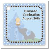 Our Little Peanut Boy - Personalized Baby Shower Card Stock Favor Tags