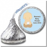 Our Little Peanut Boy - Hershey Kiss Baby Shower Sticker Labels