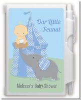 Our Little Peanut Boy - Baby Shower Personalized Notebook Favor