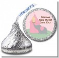 Our Little Peanut Girl - Hershey Kiss Baby Shower Sticker Labels thumbnail