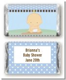 Our Little Peanut Boy - Personalized Baby Shower Mini Candy Bar Wrappers