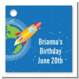 Rocket Ship - Personalized Birthday Party Card Stock Favor Tags thumbnail