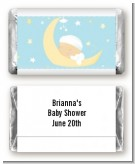 Over The Moon Boy - Personalized Baby Shower Mini Candy Bar Wrappers