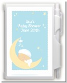 Over The Moon Boy - Baby Shower Personalized Notebook Favor