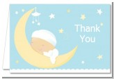 Over The Moon Boy - Baby Shower Thank You Cards