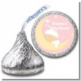 Over The Moon Girl - Hershey Kiss Baby Shower Sticker Labels thumbnail