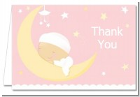 Over The Moon Girl - Baby Shower Thank You Cards