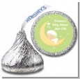 Over The Moon - Hershey Kiss Baby Shower Sticker Labels thumbnail