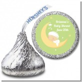 Over The Moon - Hershey Kiss Baby Shower Sticker Labels