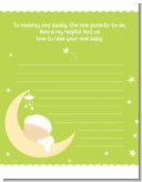 Over The Moon - Baby Shower Notes of Advice
