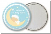 Over The Moon Boy - Personalized Baby Shower Pocket Mirror Favors