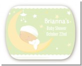 Over The Moon - Personalized Baby Shower Rounded Corner Stickers