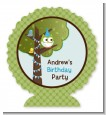 Owl Birthday Boy - Personalized Birthday Party Centerpiece Stand thumbnail