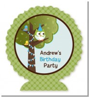 Owl Birthday Boy - Personalized Birthday Party Centerpiece Stand