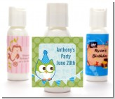 Owl Birthday Boy - Personalized Birthday Party Lotion Favors