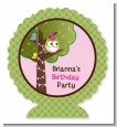 Owl Birthday Girl - Personalized Birthday Party Centerpiece Stand thumbnail