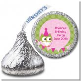 Owl Birthday Girl - Hershey Kiss Birthday Party Sticker Labels