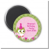 Owl Birthday Girl - Personalized Birthday Party Magnet Favors
