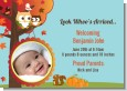 Owl - Fall Theme or Halloween - Birth Announcement Photo Card thumbnail