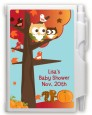 Owl - Fall Theme or Halloween - Baby Shower Personalized Notebook Favor thumbnail