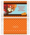 Owl - Fall Theme or Halloween - Personalized Popcorn Wrapper Baby Shower Favors thumbnail
