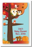 Owl - Fall Theme or Halloween - Custom Large Rectangle Baby Shower Sticker/Labels