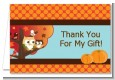 Owl - Fall Theme or Halloween - Baby Shower Thank You Cards thumbnail