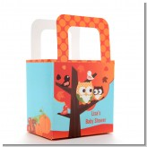 Owl - Fall Theme or Halloween - Personalized Baby Shower Favor Boxes