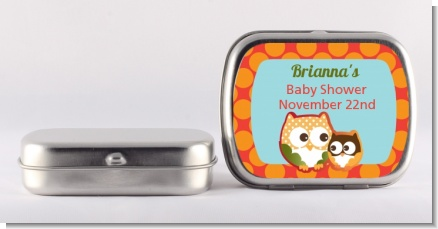 Owl - Fall Theme or Halloween - Personalized Baby Shower Mint Tins