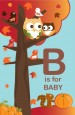 Owl - Fall Theme or Halloween - Personalized Baby Shower Nursery Wall Art thumbnail