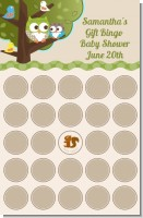 Owl - Look Whooo's Having A Baby - Baby Shower Gift Bingo Game Card