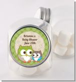 Owl - Look Whooo's Having A Baby - Personalized Baby Shower Candy Jar