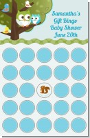 Owl - Look Whooo's Having A Boy - Baby Shower Gift Bingo Game Card