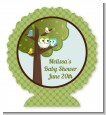 Owl - Look Whooo's Having A Boy - Personalized Baby Shower Centerpiece Stand thumbnail