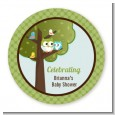 Owl - Look Whooo's Having A Boy - Personalized Baby Shower Table Confetti thumbnail