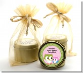 Owl - Look Whooo's Having A Girl - Baby Shower Gold Tin Candle Favors