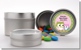 Owl - Look Whooo's Having A Girl - Custom Baby Shower Favor Tins
