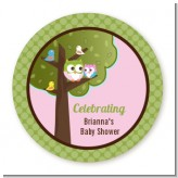Owl - Look Whooo's Having A Girl - Personalized Baby Shower Table Confetti