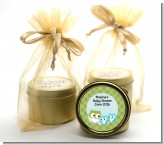 Owl - Look Whooo's Having Twin Boys - Baby Shower Gold Tin Candle Favors
