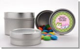 Owl - Look Whooo's Having Twin Girls - Custom Baby Shower Favor Tins